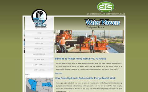 Screenshot of Blog watermovers.com - Blog | Water Movers - captured Oct. 8, 2014