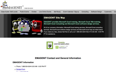 Screenshot of Site Map Page emagenit.com - EMAGENIT Site Map - captured April 8, 2018