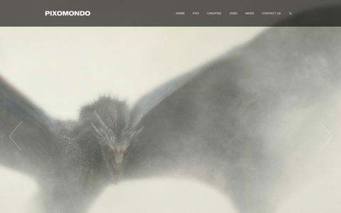 Screenshot of Home Page pixomondo.com - Home - PIXOMONDO        PIXOMONDO - captured July 21, 2015