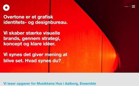 Screenshot of Home Page overtone.dk - Overtone | Identitet og design - captured Sept. 30, 2014