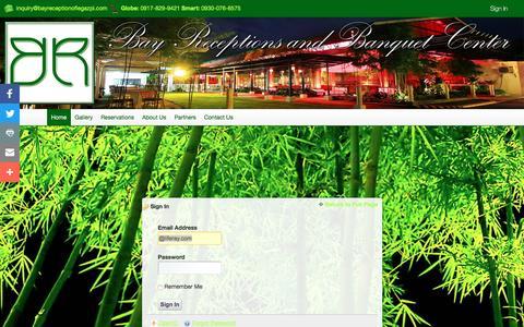Screenshot of Login Page bayreceptionoflegazpi.com - Home - Bay Receptions and Banquet Center - captured Nov. 22, 2016