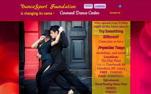 Screenshot of Home Page dancesportfoundation.org - DanceSport Foundation - captured Sept. 30, 2014
