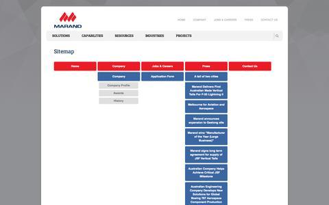 Screenshot of Site Map Page marand.com.au - Sitemap - captured Oct. 27, 2014