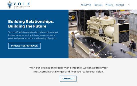 Screenshot of Home Page volkconstruction.com - Home - Volk Construction - captured Nov. 5, 2017