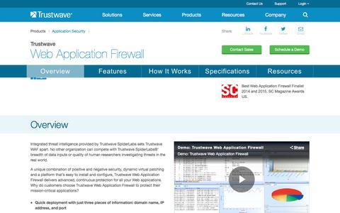Trustwave Web Application Firewall