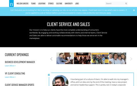 Client Service and Sales – Nielsen Careers