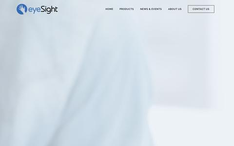 Screenshot of Developers Page eyesight-tech.com - eyeSight |   ios developer - captured Nov. 3, 2014