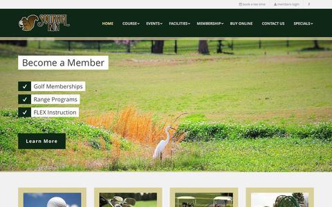 Screenshot of Home Page squirrel-run.com - Squirrel Run Golf Club - captured June 24, 2016