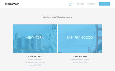Screenshot of Locations Page mediamath.com - MediaMath Office Locations | MediaMath - captured Oct. 2, 2019
