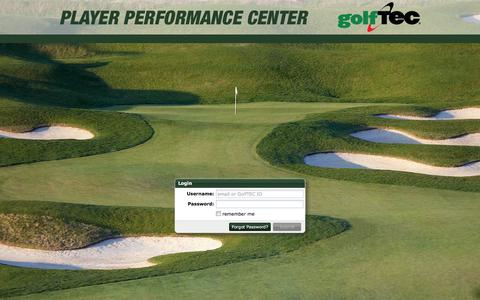 Screenshot of Login Page golftec.com - GolfTEC Player Performance Center - captured April 19, 2016
