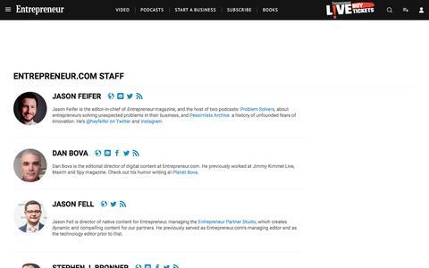 Screenshot of Team Page entrepreneur.com - Entrepreneur.com Staff - captured Sept. 19, 2018