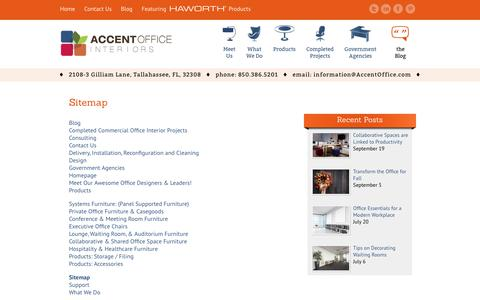Screenshot of Site Map Page accentoffice.com - Sitemap | Accent Office Interiors - captured Oct. 7, 2017