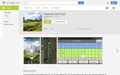 Screenshot of Android App Page google.com - Maderas Golf Club - Android Apps on Google Play - captured Oct. 23, 2014