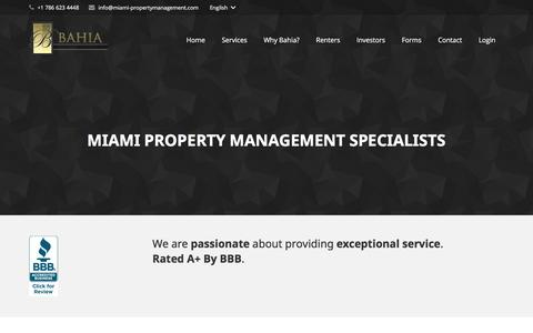 Screenshot of About Page miami-propertymanagement.com - Residential Property Management Company in Miami - captured June 18, 2016