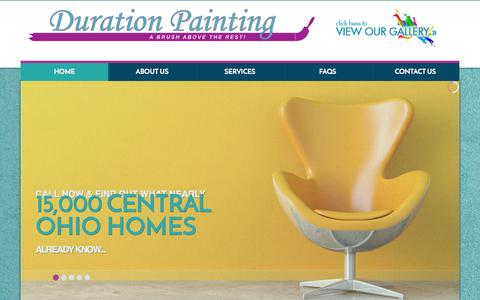 Screenshot of Home Page durationpainters.com - Central Ohio Painting Services Columbus Painting Contractors Interior & Exterior | - captured Oct. 5, 2014