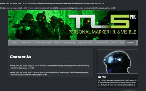Screenshot of Contact Page tl5pro.com - Contact Us | TL5 Pro Personal IR Marker & Beacon - captured Jan. 12, 2016