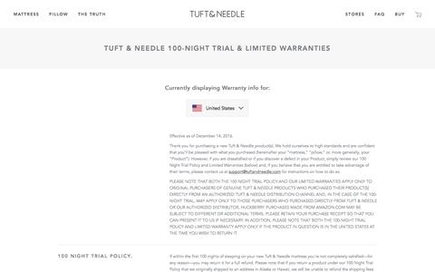 Warranty | Tuft & Needle