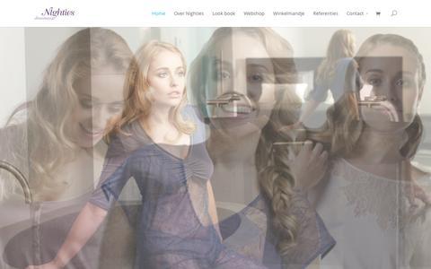 Screenshot of Home Page nighties.nl - Nighties Dreamwear - Nachtkleding & Nachtmode Dames - captured Feb. 17, 2016