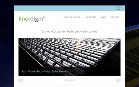 Screenshot of Home Page enerdigm.com - Enerdigm - Venture Capital and Project Finance Enerdigm - captured July 19, 2018