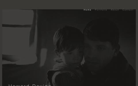Screenshot of Home Page eye-camera.com - Howard Davies - captured Jan. 31, 2017