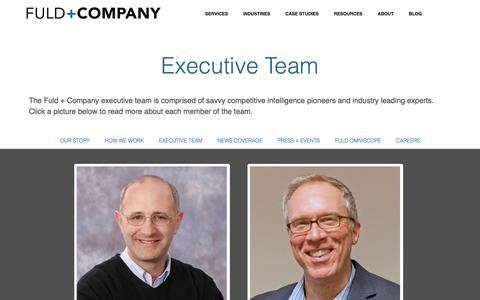 Screenshot of Team Page fuld.com - Fuld + Company | Executive Team - captured Oct. 10, 2014