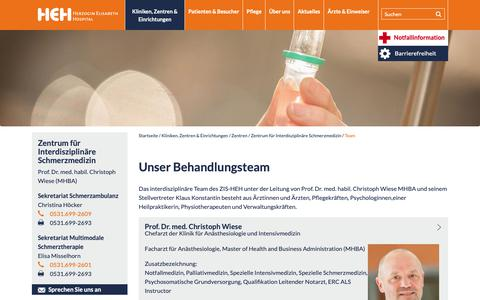 Screenshot of Team Page heh-bs.de - Ihre Gesundheit in besten Händen: Team - captured Oct. 30, 2018