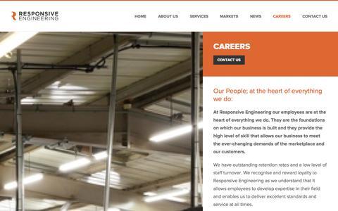 Screenshot of Jobs Page responsive-engineering.com - Careers » Responsive Engineering - captured Oct. 8, 2014