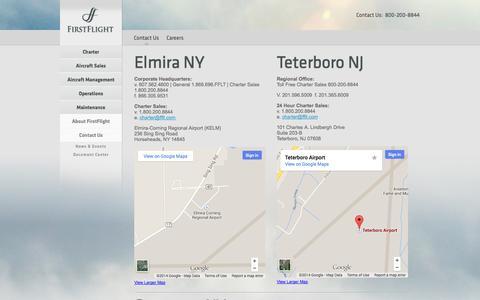 Screenshot of Contact Page fflt.com - FirstFlight - Contact Us - captured Oct. 6, 2014