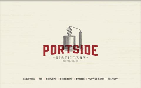 Screenshot of Home Page portsidedistillery.com - Portside Distillery | Craft beer and rum in Cleveland, OH - captured Jan. 21, 2015