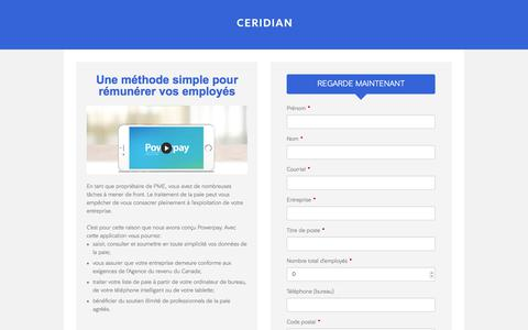 Screenshot of Landing Page ceridian.com captured March 1, 2018
