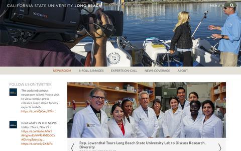 Screenshot of Press Page csulb.edu - Newsroom | California State University, Long Beach - captured Dec. 1, 2018
