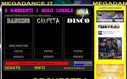 Screenshot of Home Page megadance.it - MEGA' DISCOTECA megadance.it (Senigallia):::::::::::::::::::::::::::::::::: - captured Oct. 16, 2015