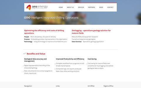Screenshot of Services Page ans-energy.com - ANS Energy - i2DO - captured Oct. 27, 2014