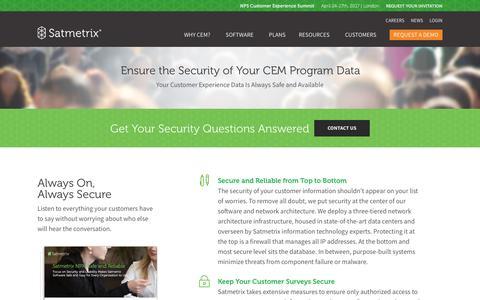 Satmetrix Security