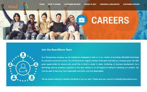Screenshot of Jobs Page myboardshare.com - Careers - captured Oct. 6, 2018