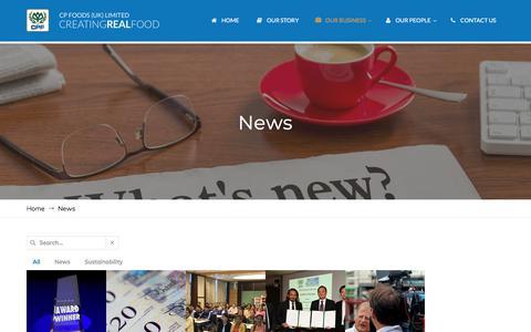 Screenshot of Press Page cpfoods.co.uk - News - CP Foods UK - captured Sept. 25, 2018