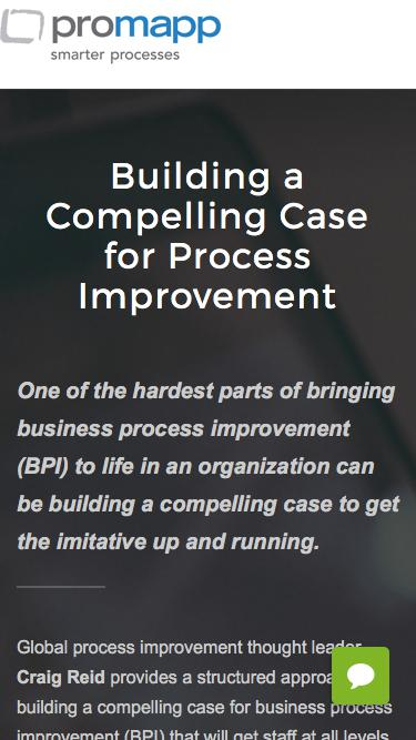 Webinar: Building a Compelling Case for Process Improvement