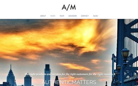 Screenshot of Jobs Page authenticmatters.com - AuthenticMatters - captured Sept. 30, 2014