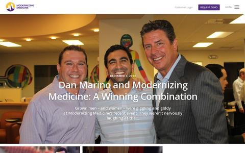 Screenshot of Blog modmed.com - Beyond EMR Blog | Modernizing Medicine | Modernizing Medicine - captured July 18, 2014