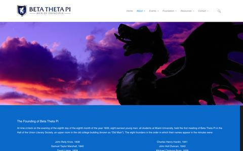 Screenshot of About Page betathetapi.org - About |  Beta Theta Pi - captured Sept. 30, 2014