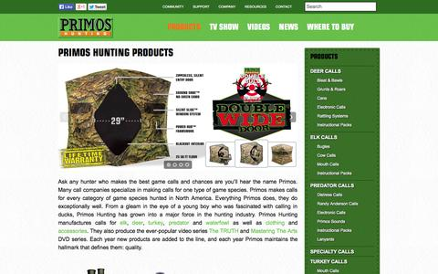 Screenshot of Products Page primos.com - Primos Hunting Products - captured Oct. 3, 2014