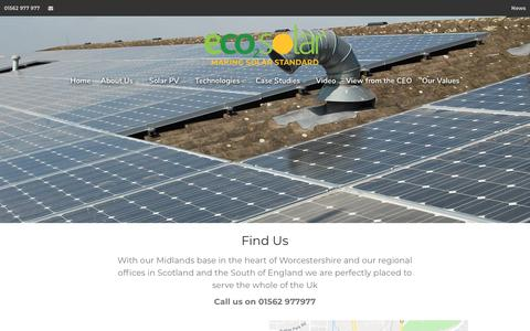 Screenshot of Contact Page eco2solar.co.uk - Contact us - captured Sept. 27, 2018