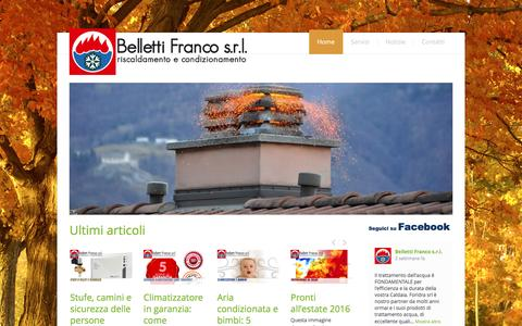 Screenshot of Home Page dittabelletti.it - Belletti Franco s.r.l. assistenza climatizzazione - captured Nov. 22, 2016