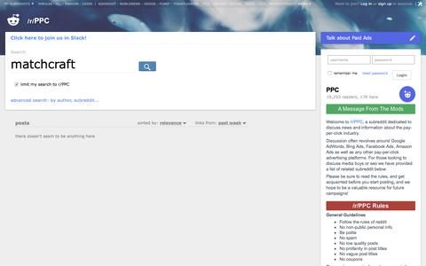 PPC: search results - matchcraft