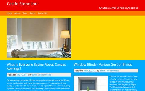 Screenshot of Home Page castlestoneinn.com.au - Castle Stone Inn - Shutters amd Blinds in Australia - captured Oct. 31, 2018