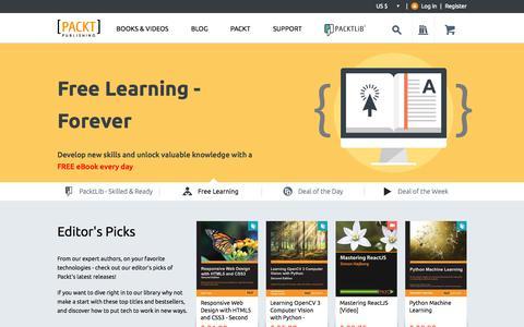 Screenshot of Home Page packtpub.com - Packt Publishing   Technology Books, eBooks & Videos - captured Oct. 1, 2015