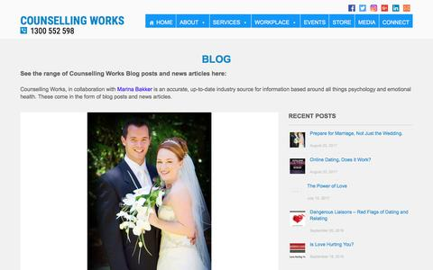 Screenshot of Blog counsellingworks.com.au - Blog Posts by Counselling Works | Counselling Works - captured Aug. 26, 2017