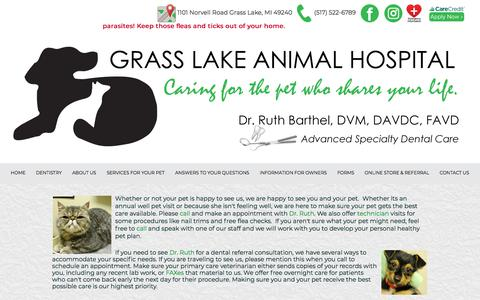 Screenshot of Hours Page grasslakeanimalhospital.com - Grass Lake Animal Hospital - Grass Lake, MI - Hours - captured July 23, 2018