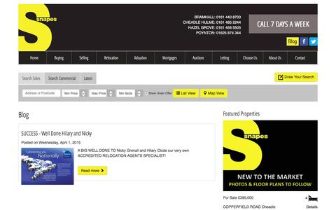 Screenshot of Blog snapes.co.uk - Blog | Snape Estates - captured Feb. 21, 2016