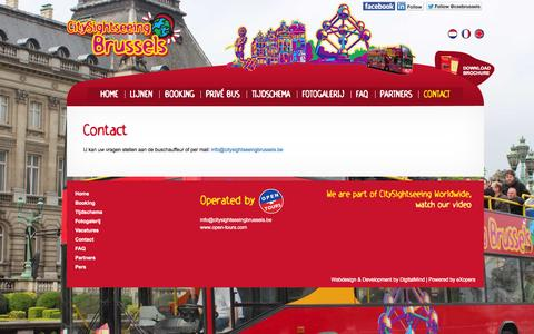 Screenshot of Contact Page citysightseeingbrussel.be - Contact | City Sightseeing Brussels - captured Oct. 2, 2014